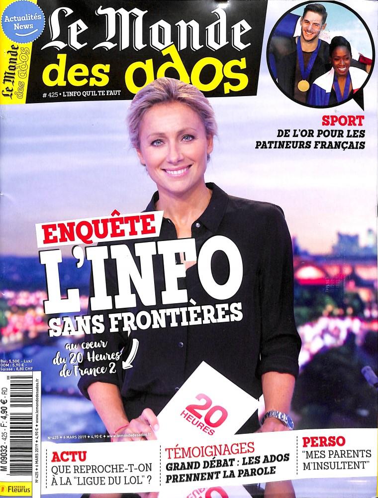 Le Monde des Ados N° 425 Mars 2019