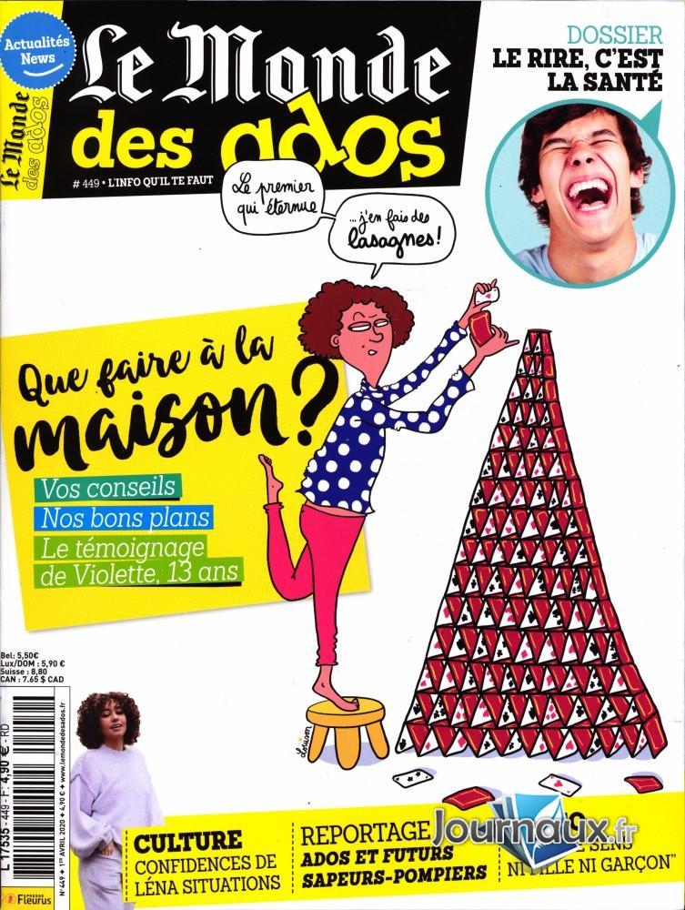 Le Monde des Ados N° 449 Avril 2020