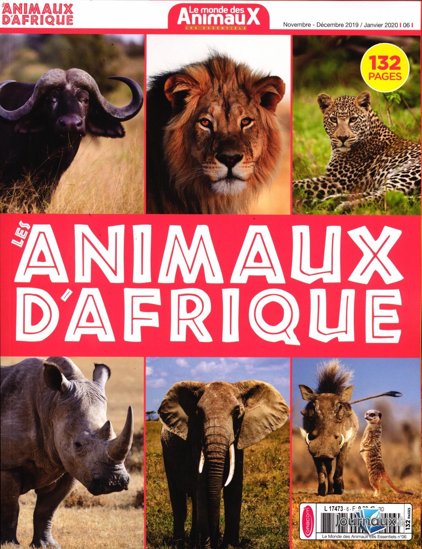 Le Monde Des Animaux Les Essentiels N° 6 Novembre 2019
