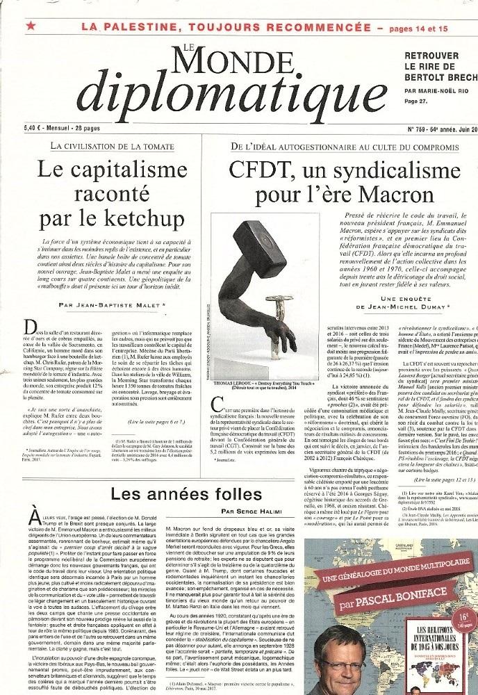Le Monde Diplomatique N° 756 Mars 2017
