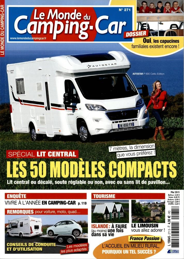 le monde du camping car n 271 abonnement le monde du camping car abonnement magazine par. Black Bedroom Furniture Sets. Home Design Ideas