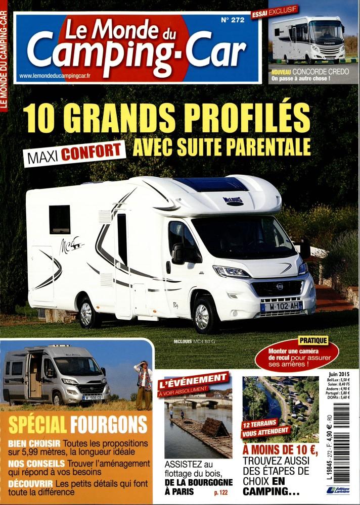 le monde du camping car n 272 abonnement le monde du camping car abonnement magazine par. Black Bedroom Furniture Sets. Home Design Ideas
