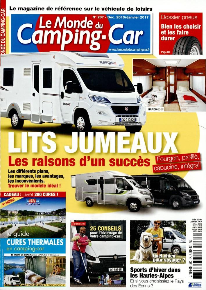 le monde du camping car n 287 abonnement le monde du camping car abonnement magazine par. Black Bedroom Furniture Sets. Home Design Ideas