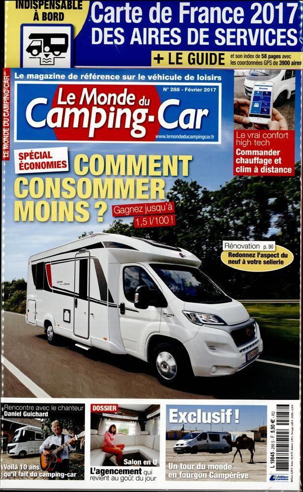 le monde du camping car n 288 abonnement le monde du camping car abonnement magazine par. Black Bedroom Furniture Sets. Home Design Ideas