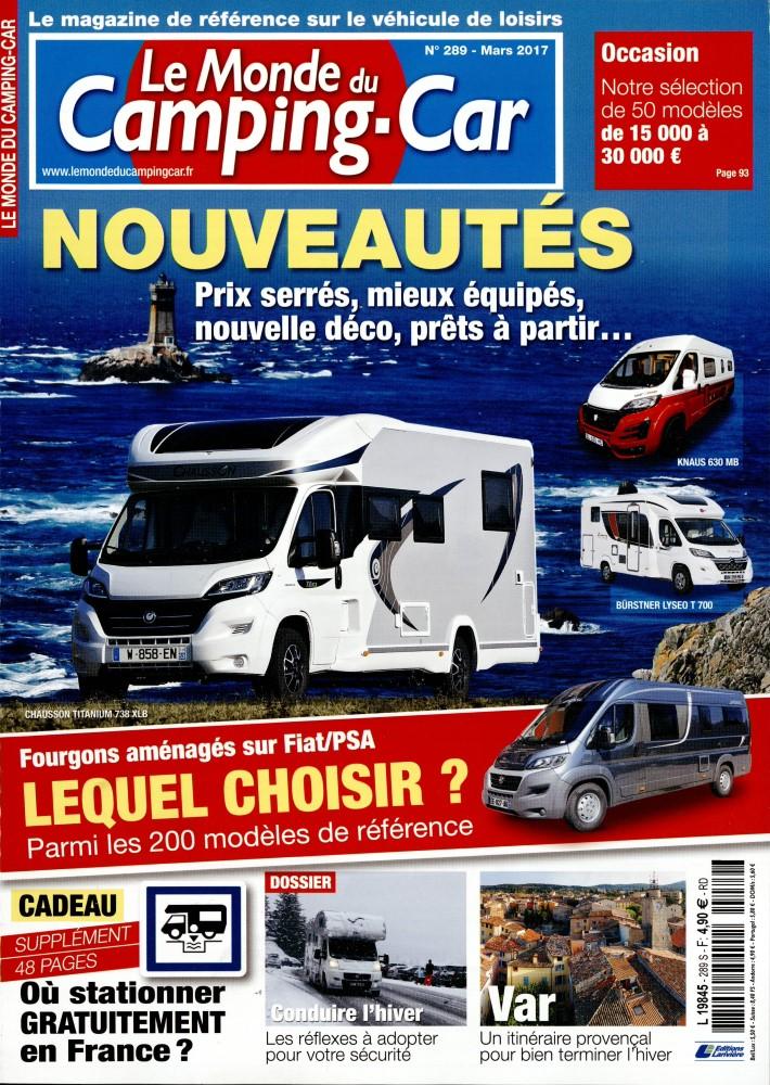 le monde du camping car n 289 abonnement le monde du camping car abonnement magazine par. Black Bedroom Furniture Sets. Home Design Ideas