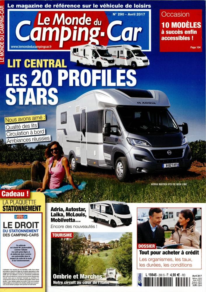 le monde du camping car n 290 abonnement le monde du camping car abonnement magazine par. Black Bedroom Furniture Sets. Home Design Ideas