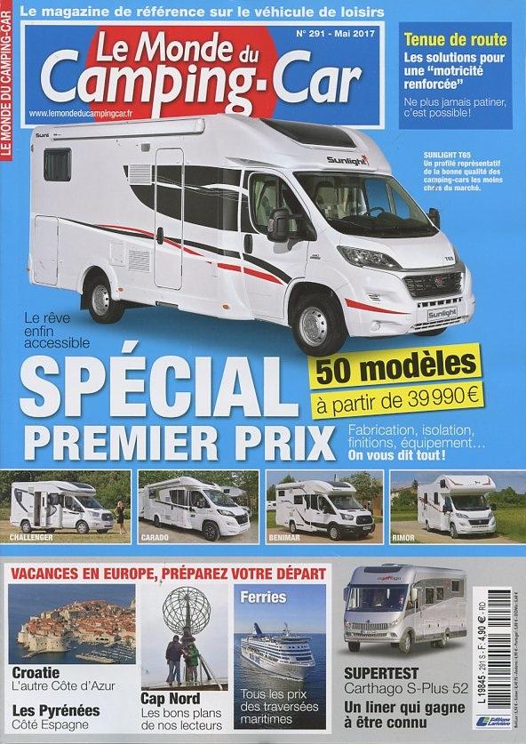 le monde du camping car n 291 abonnement le monde du camping car abonnement magazine par. Black Bedroom Furniture Sets. Home Design Ideas