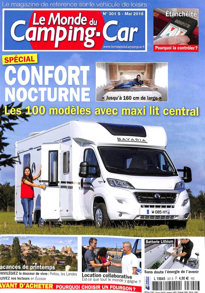le monde du camping car n 301 abonnement le monde du camping car abonnement magazine par. Black Bedroom Furniture Sets. Home Design Ideas