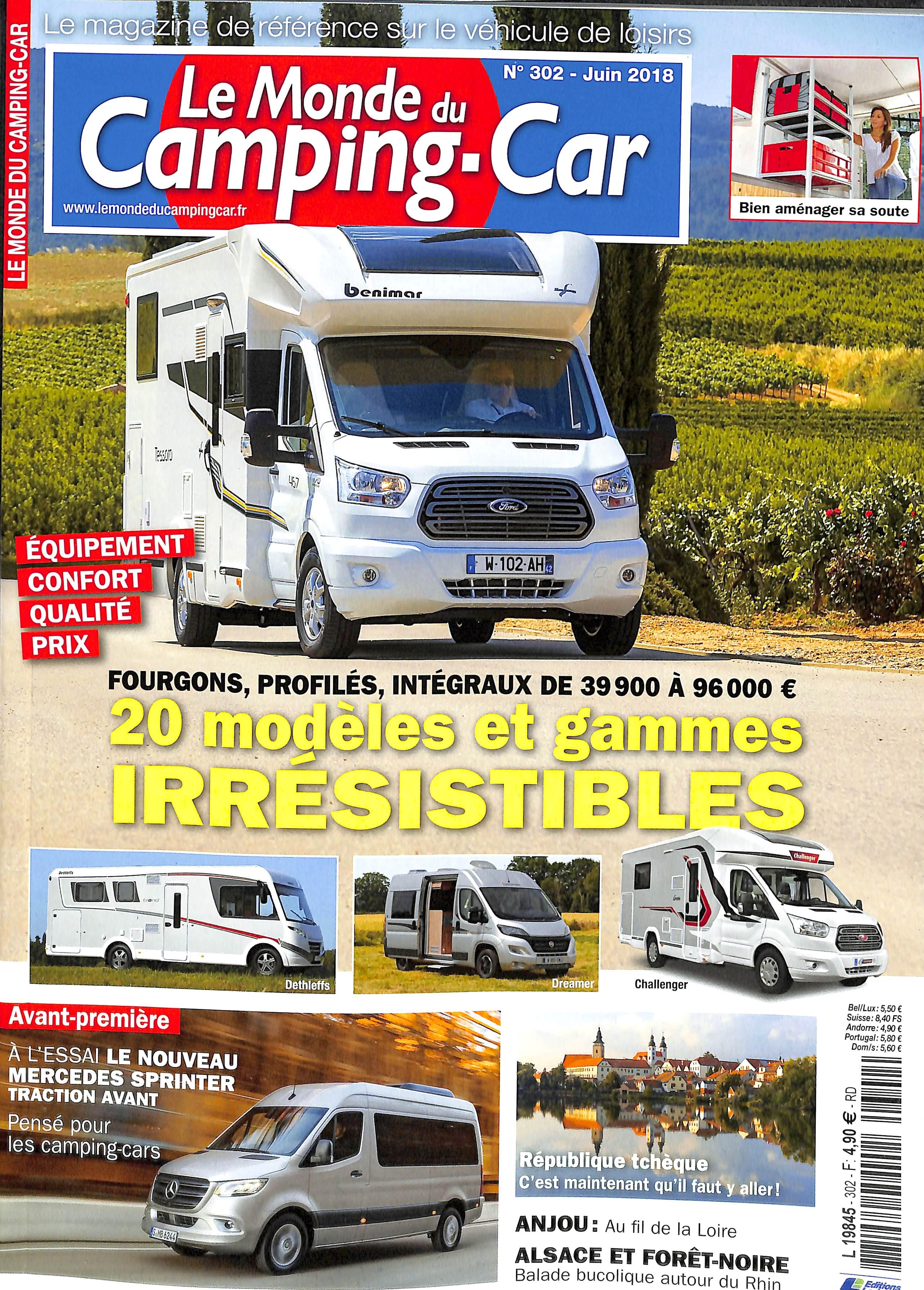 abonnement le monde du camping car abonnement magazine par. Black Bedroom Furniture Sets. Home Design Ideas