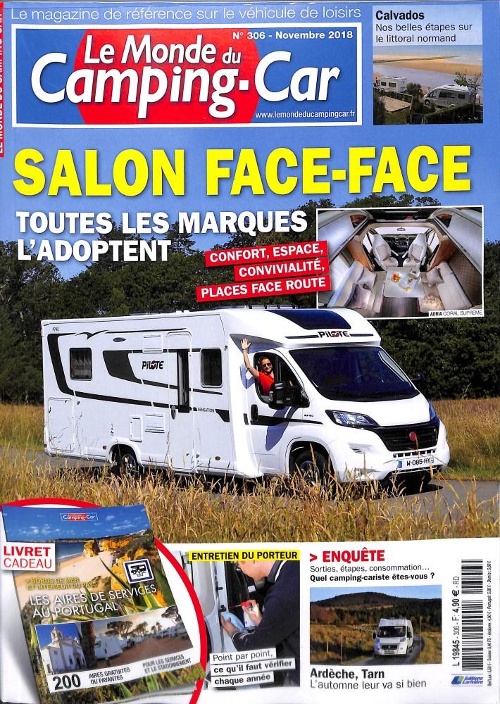 le monde du camping car n 306 abonnement le monde du camping car abonnement magazine par. Black Bedroom Furniture Sets. Home Design Ideas