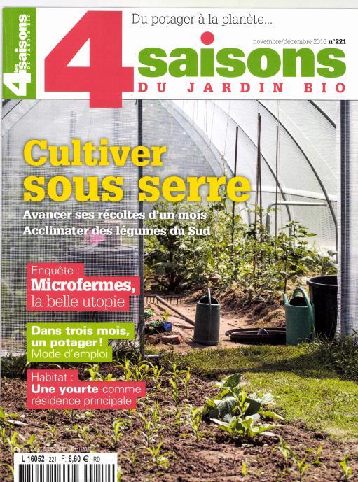 les 4 saisons du jardin bio n 221 abonnement les 4 saisons du jardin bio abonnement. Black Bedroom Furniture Sets. Home Design Ideas