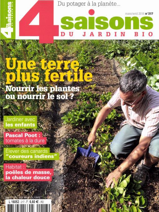 Abonnement les 4 saisons du jardin bio intermagazines for 4 saisons du jardin bio