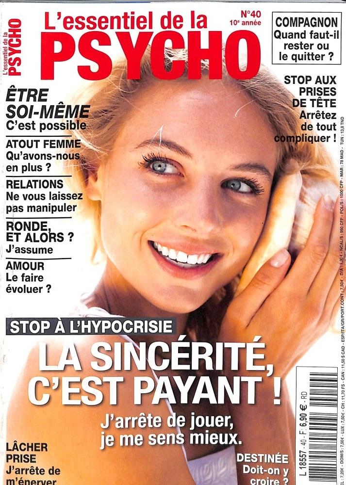 L'essentiel de la psycho N° 40 June 2018