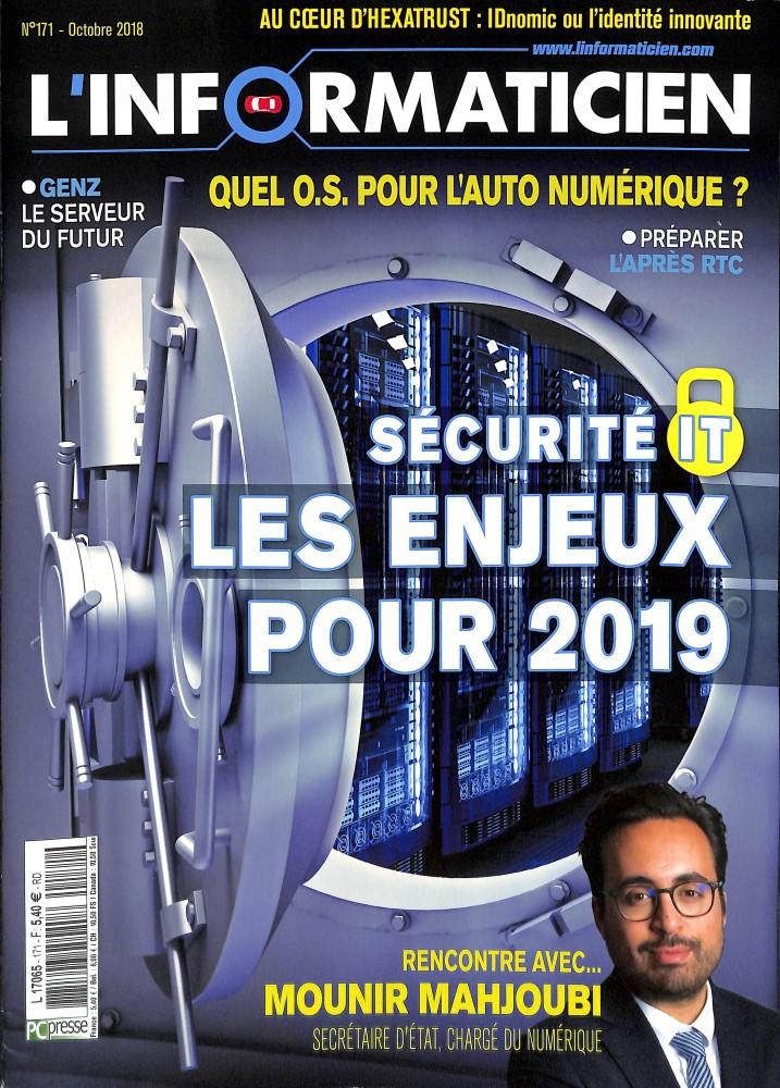 L'informaticien N° 171 October 2018