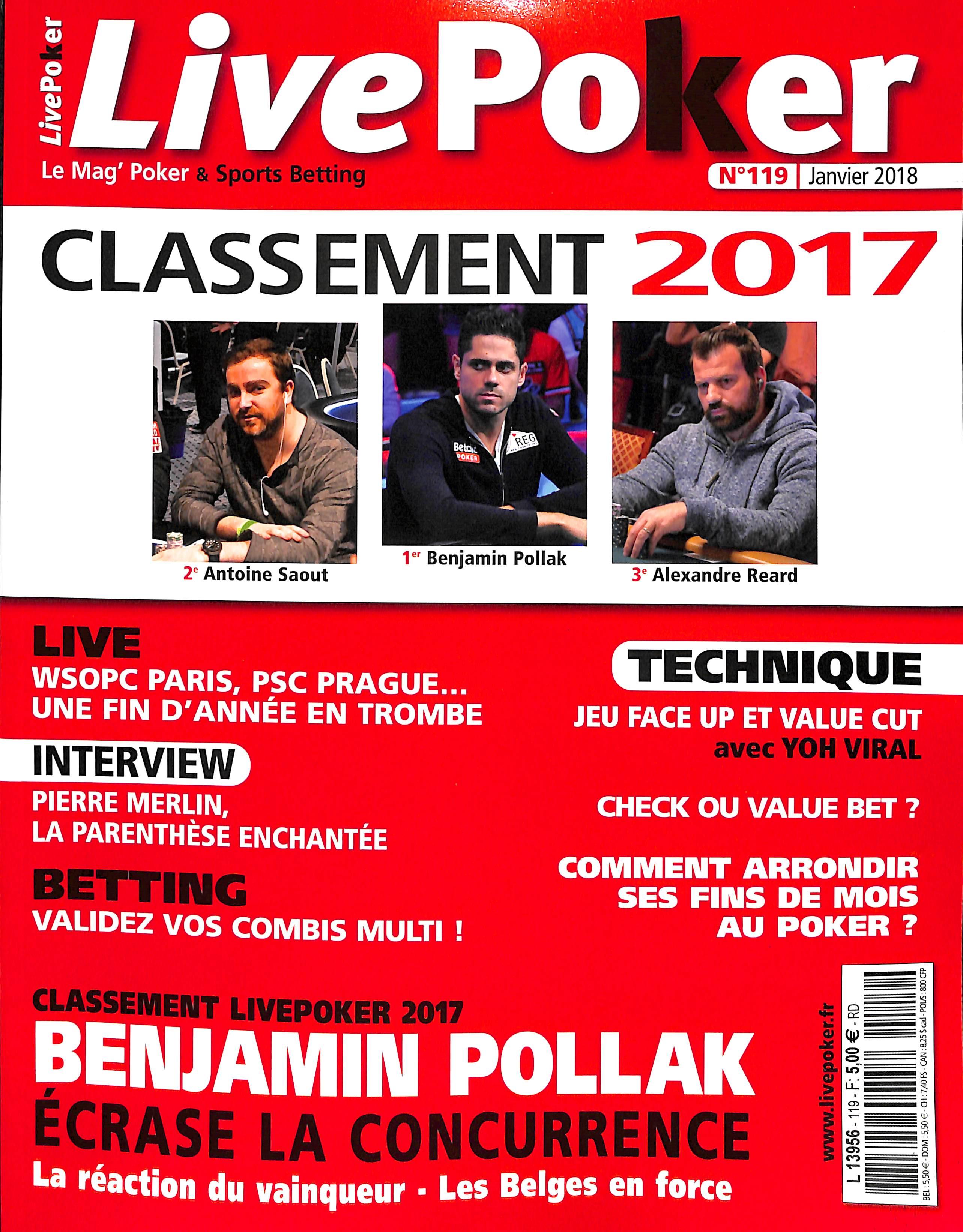Live Poker N° 119 Décembre 2017