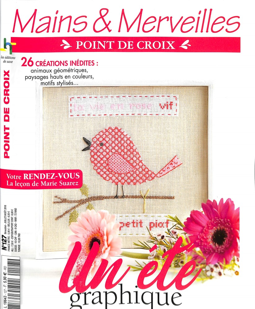 Mains et Merveilles Point de Croix N° 91 June 2012