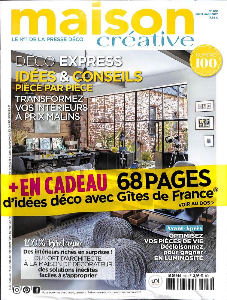 maison cr ative n 100 abonnement maison cr ative. Black Bedroom Furniture Sets. Home Design Ideas