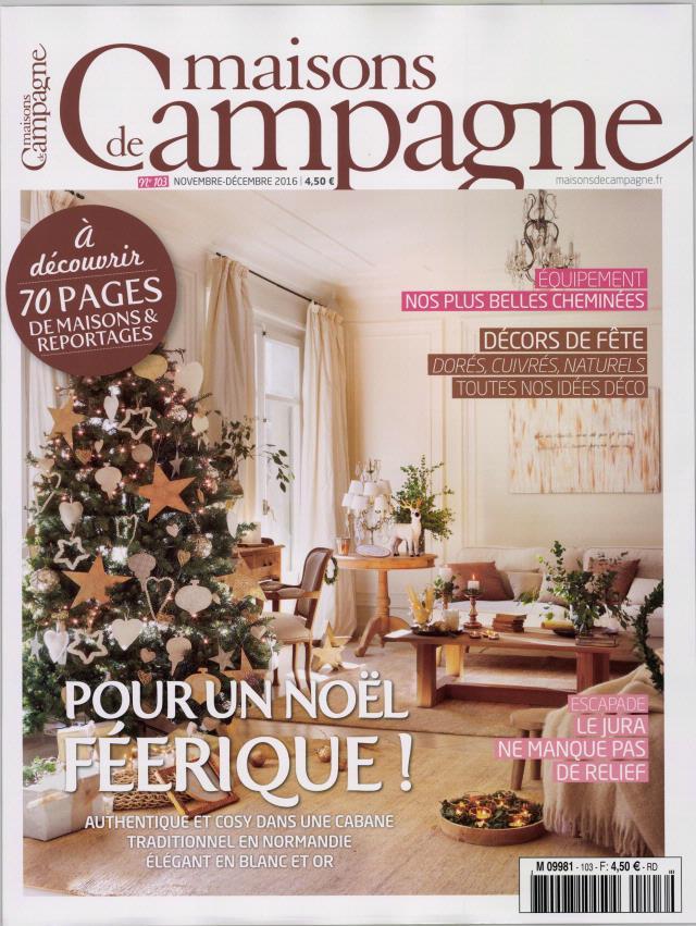 Maisons de campagne n 103 abonnement maisons de for Maison magazine abonnement