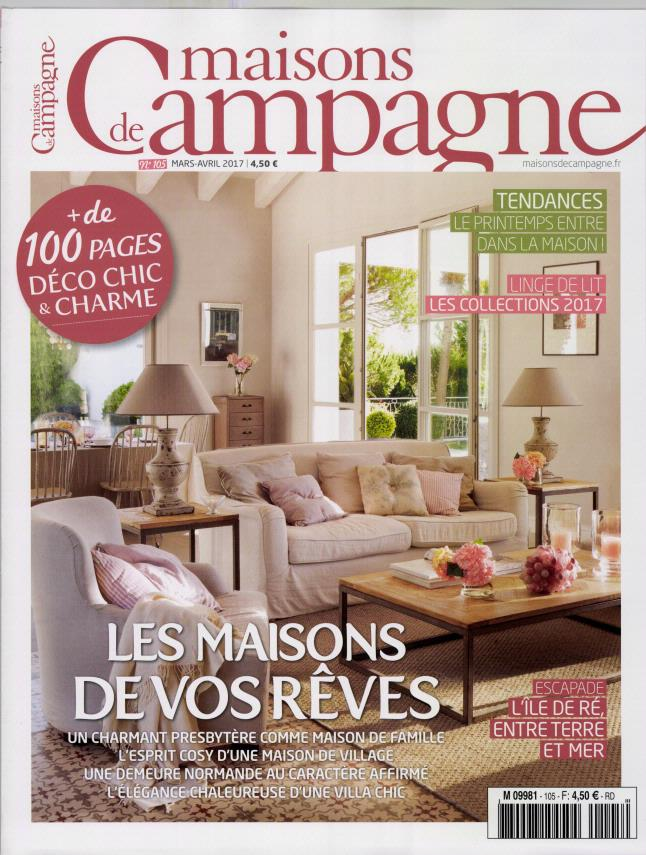 maisons de campagne n 105 abonnement maisons de campagne abonnement magazine par. Black Bedroom Furniture Sets. Home Design Ideas