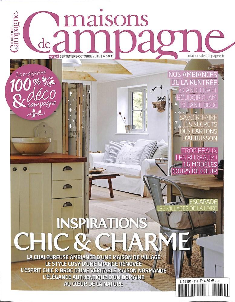 maisons de campagne n 114 abonnement maisons de campagne abonnement magazine par. Black Bedroom Furniture Sets. Home Design Ideas
