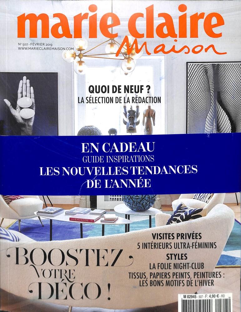 Marie Claire Maison N° 507 Janvier 2019