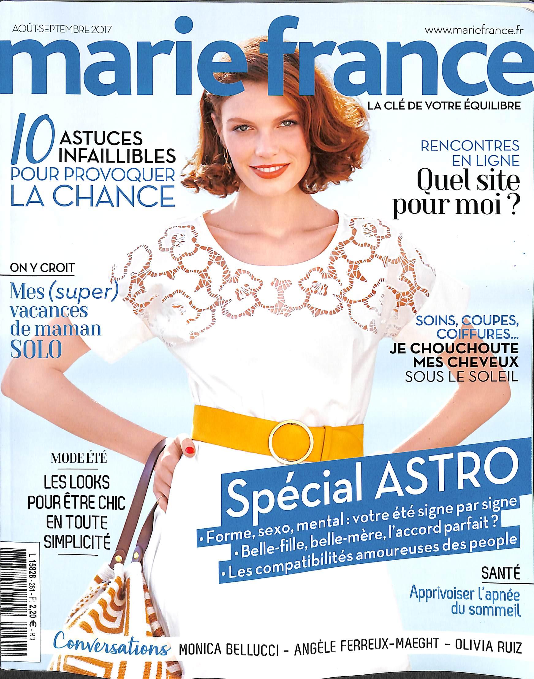 marie france n 261 abonnement marie france abonnement magazine par. Black Bedroom Furniture Sets. Home Design Ideas