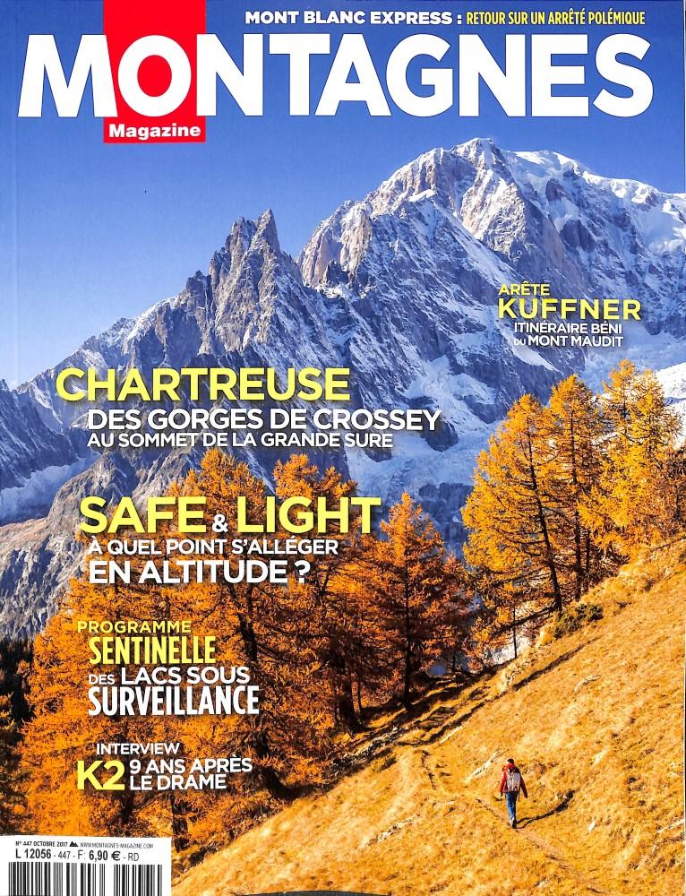 Montagnes Magazine N° 447 Octobre 2017