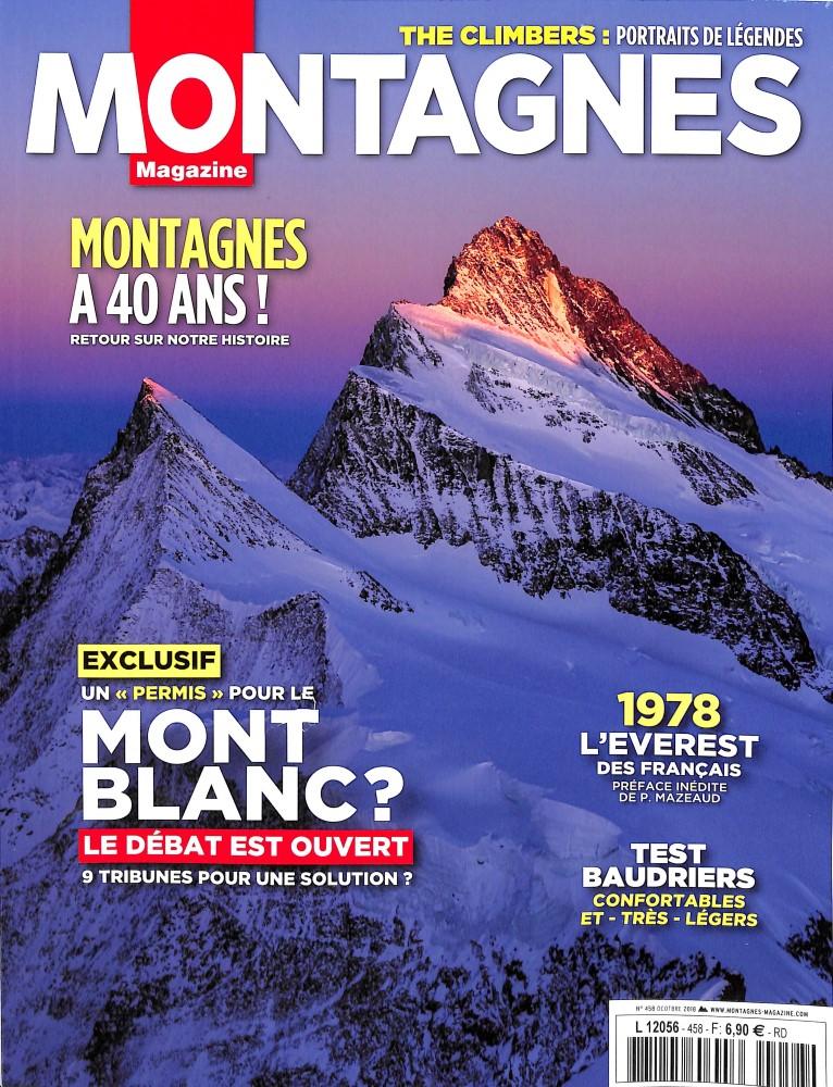 Montagnes Magazine N° 458 Octobre 2018