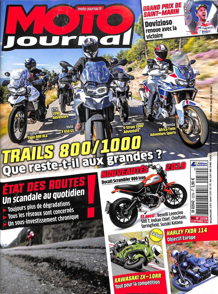 Moto Journal N° 2241 October 2018