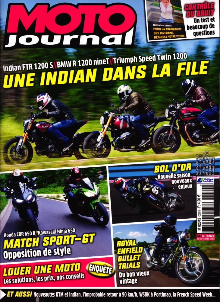 Moto Journal N° 2263 Septembre 2019