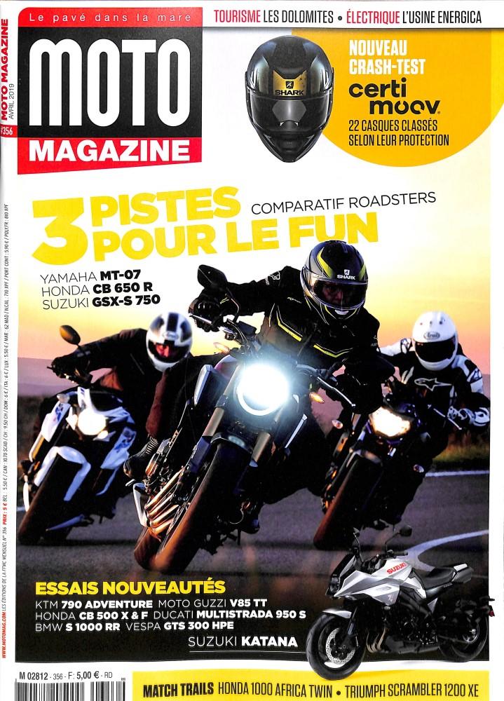 Moto Magazine N° 356 Mars 2019