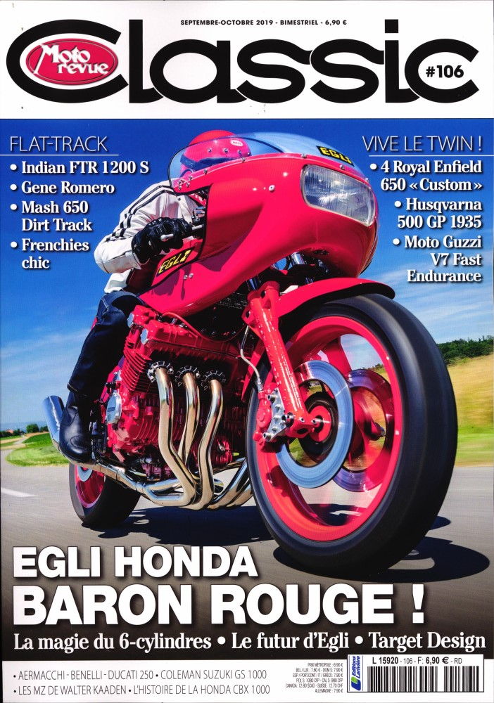 Moto Revue Classic N° 106 Août 2019