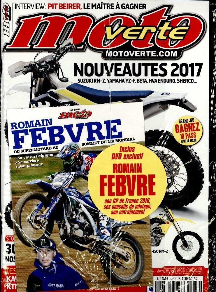 moto verte n 508 abonnement moto verte abonnement magazine par. Black Bedroom Furniture Sets. Home Design Ideas