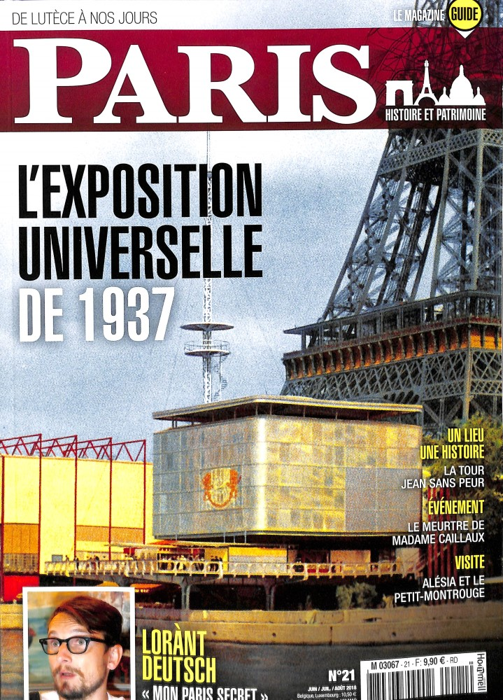 Paris, de Lutèce à nos jours N° 21 June 2018