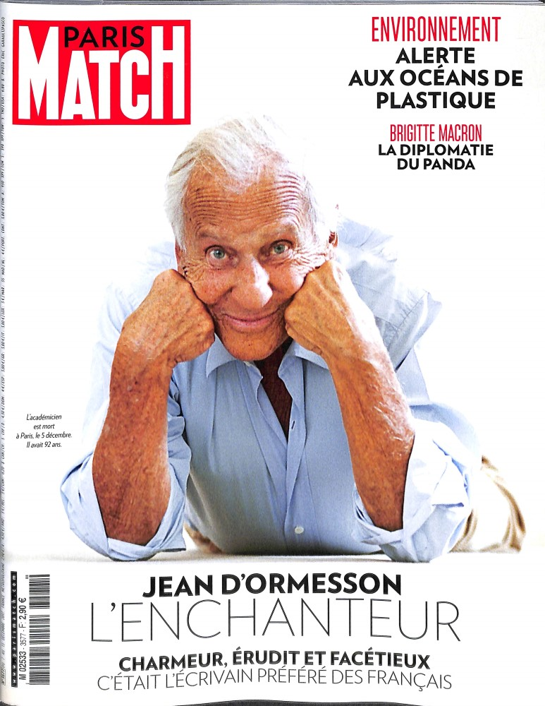 Paris Match N° 3636 Janvier 2019
