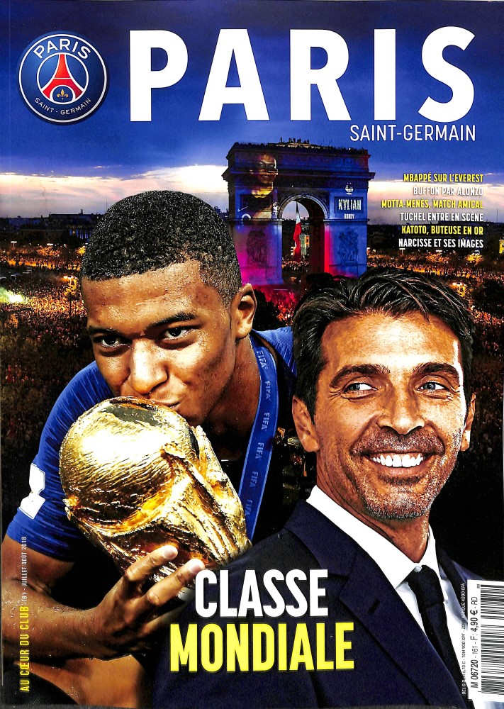 Paris St Germain N° 161 August 2018