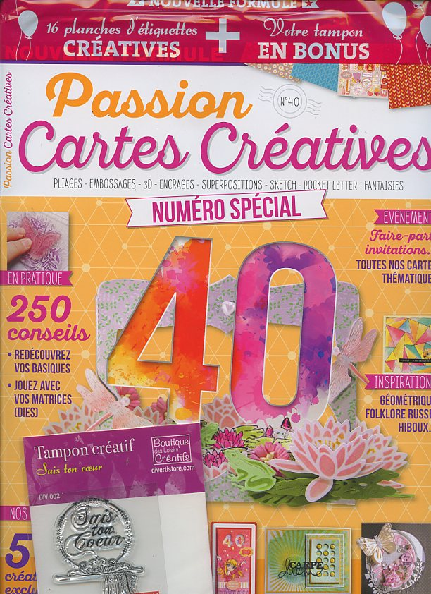 Passion cartes créatives N° 40 Avril 2017