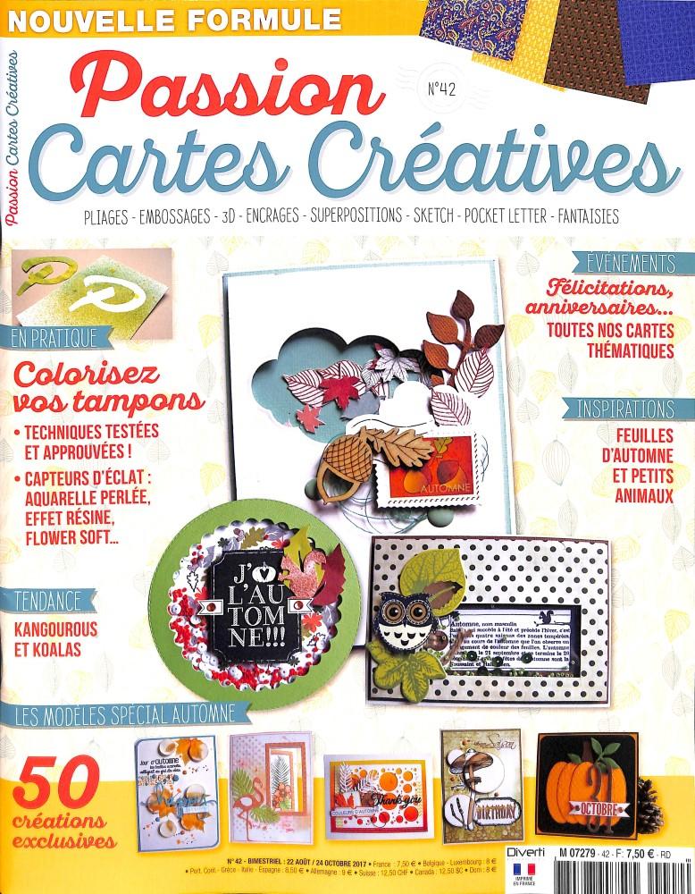 Passion cartes créatives N° 42 Août 2017