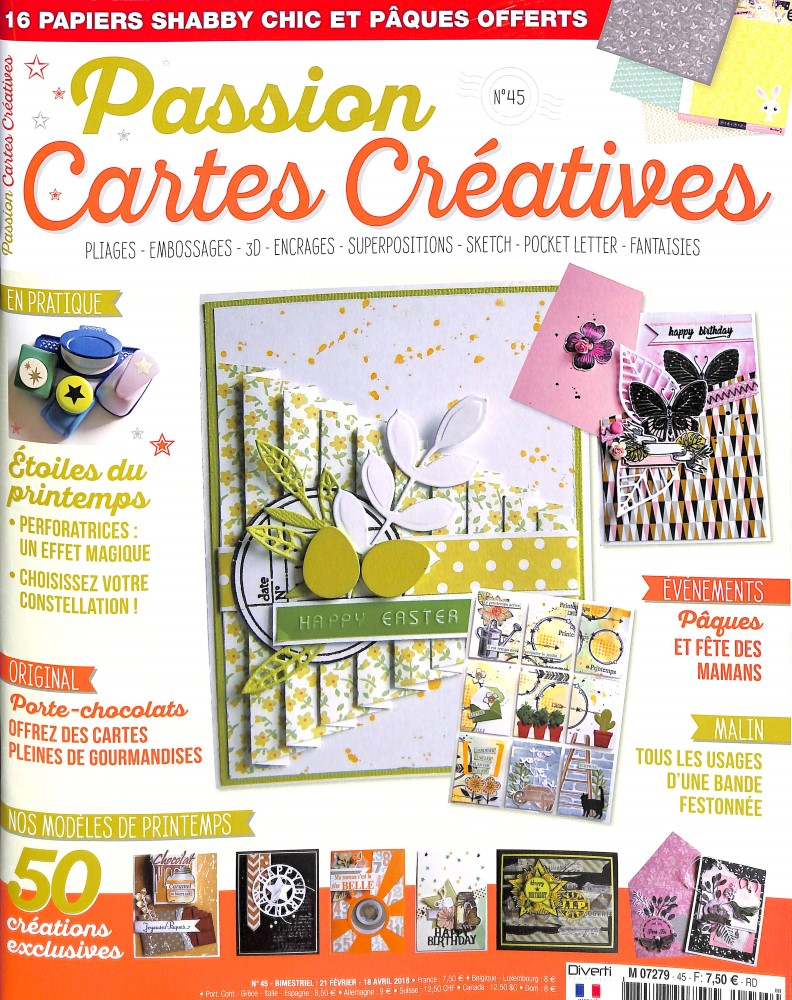 Passion cartes créatives N° 45 February 2018