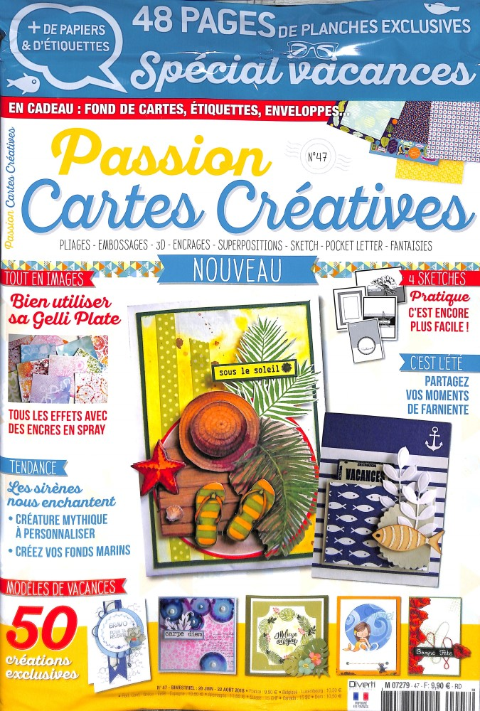 Passion cartes créatives N° 47 June 2018