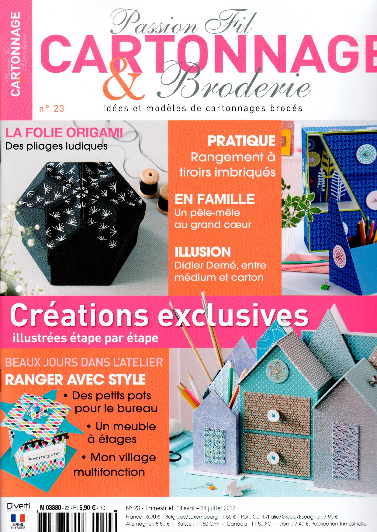 Passion fil cartonnage broderie N° 23 Avril 2017