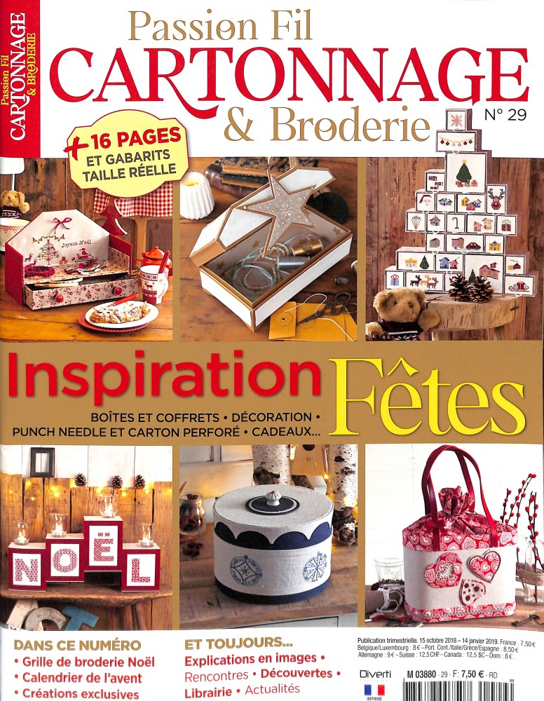 Passion fil cartonnage broderie N° 29 October 2018