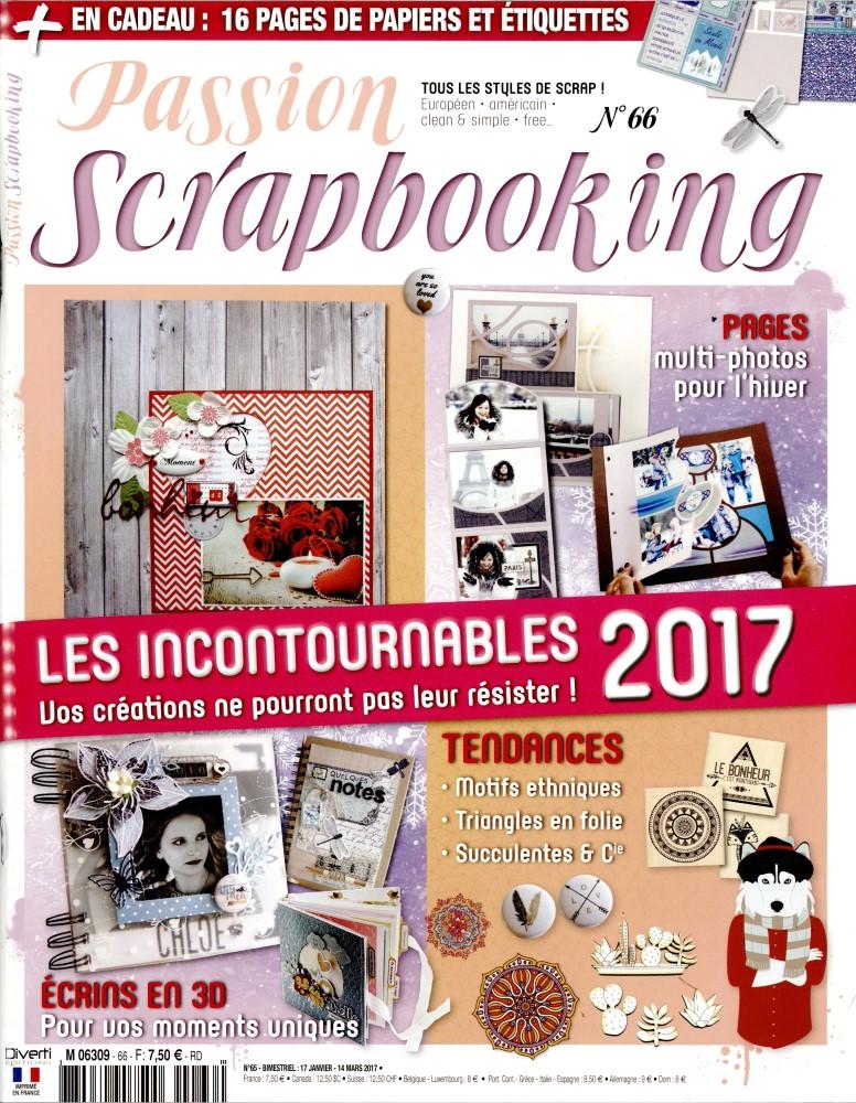 Passion scrapbooking N° 66 Janvier 2017
