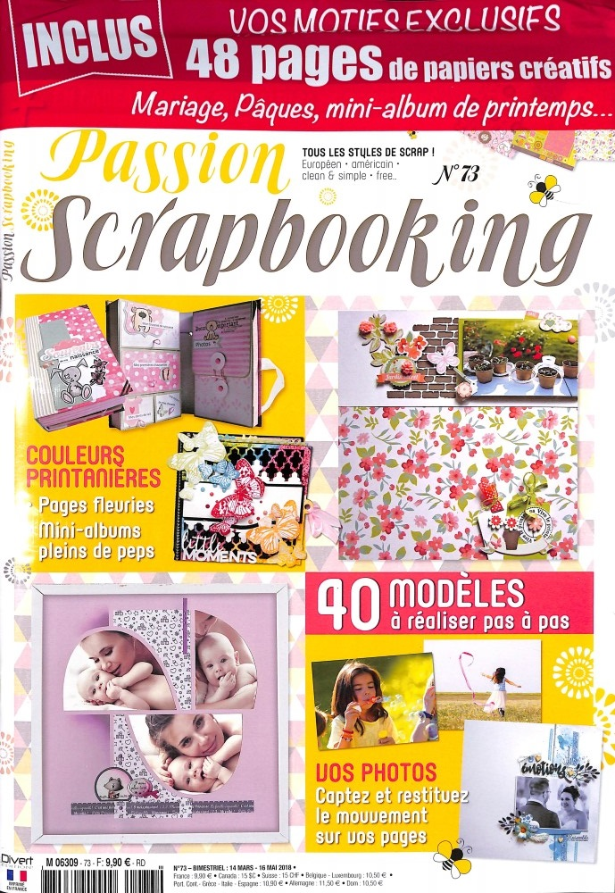 Passion scrapbooking N° 73 March 2018