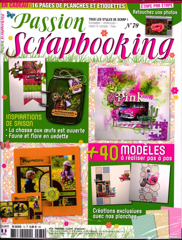 Passion scrapbooking N° 79 Mars 2019