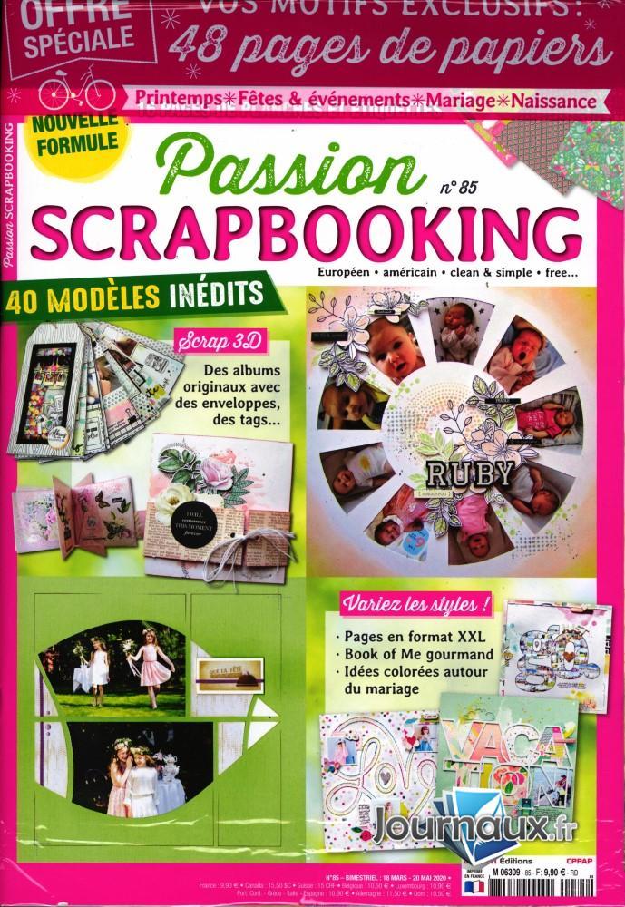 Passion scrapbooking N° 85 Mars 2020