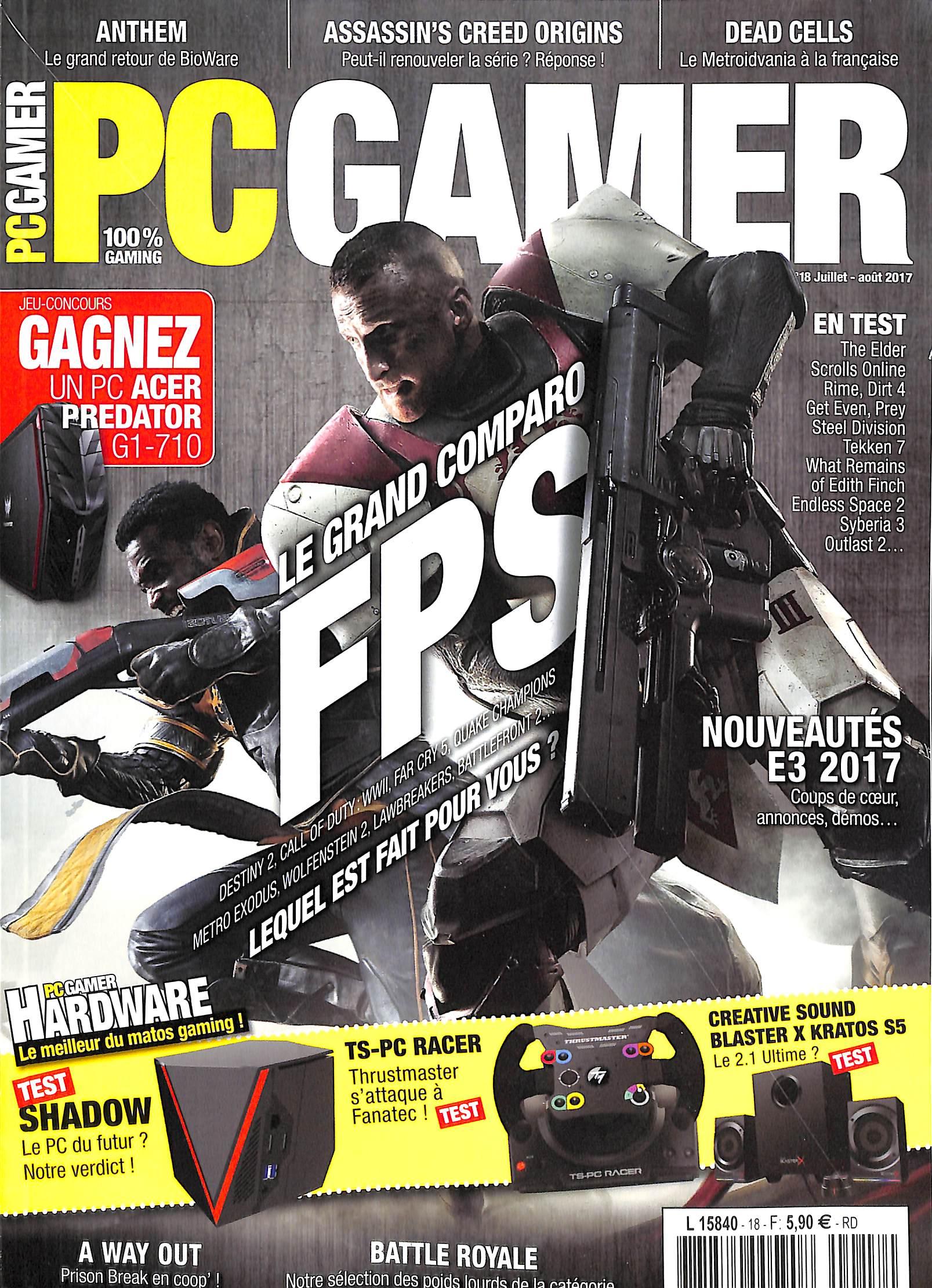 PC Gamer N° 18 Juillet 2017