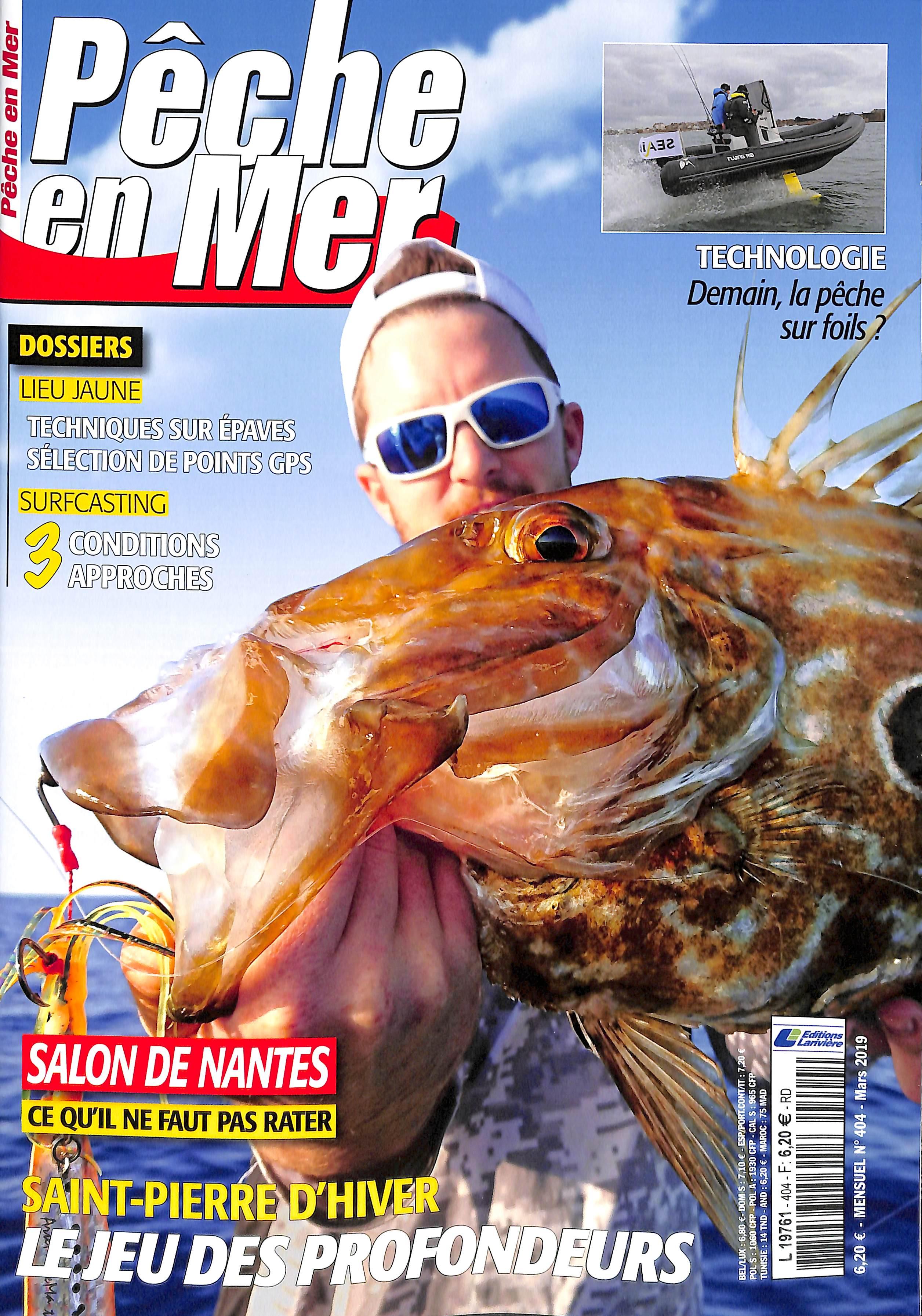 Pêche en mer N° 405 Mars 2019