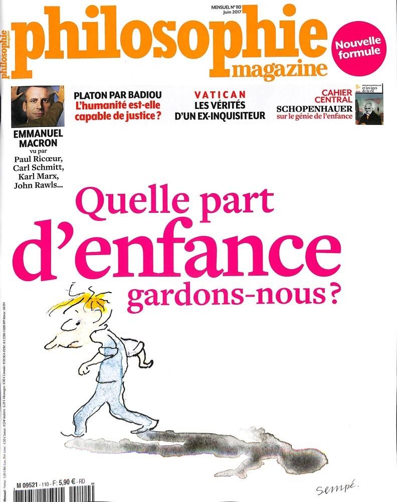 Philosophie Magazine N° 110 Mai 2017