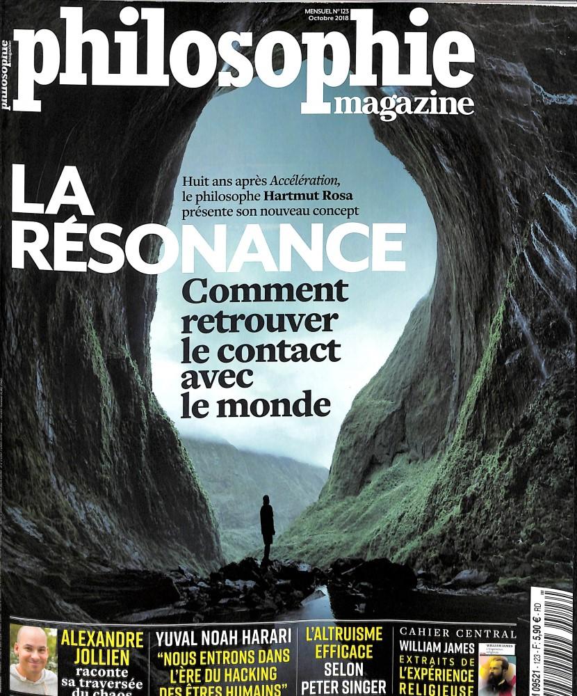 Philosophie Magazine N° 123 September 2018